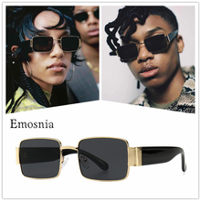 2019 Steampunk Square Sunglasses Men Women Luxury Brand Retro Black Vintage Male Ladies Small Sun Glasses Shades Oculos UV400