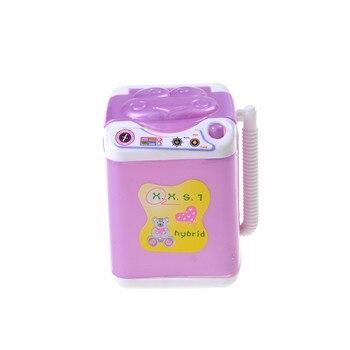 1 Uds Mini muñeca de máquina de lavado de plástico muebles de Casa juguete para muñecas accesorios niñas regalos
