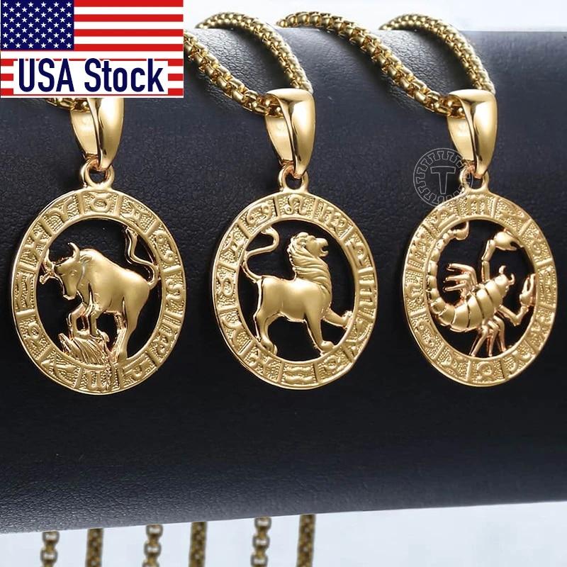 Zodiac Sign Gold Necklace