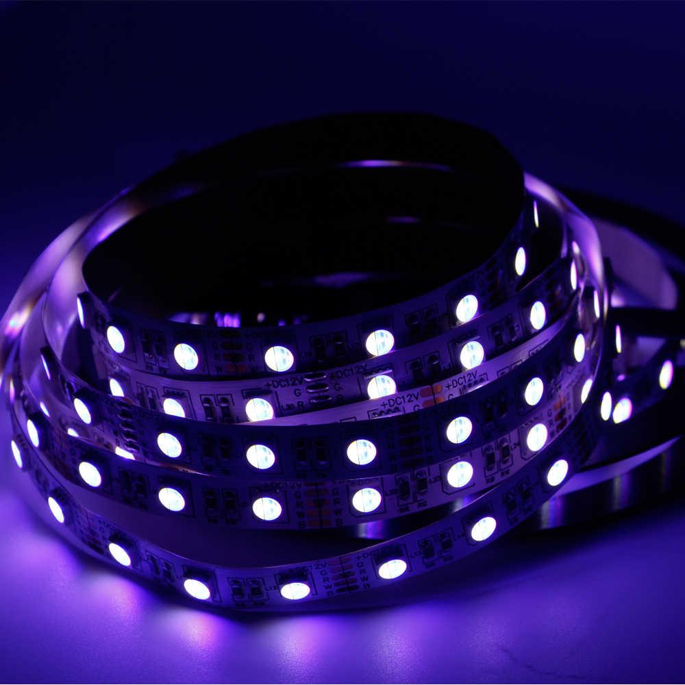 12mm PCB RGBW LED bande lumière 5050 12V 24V 4in1 puces 60LED s/m RGBW RGBWW LED bande lumière RGB blanc 300 LED bande sring lampe 5m