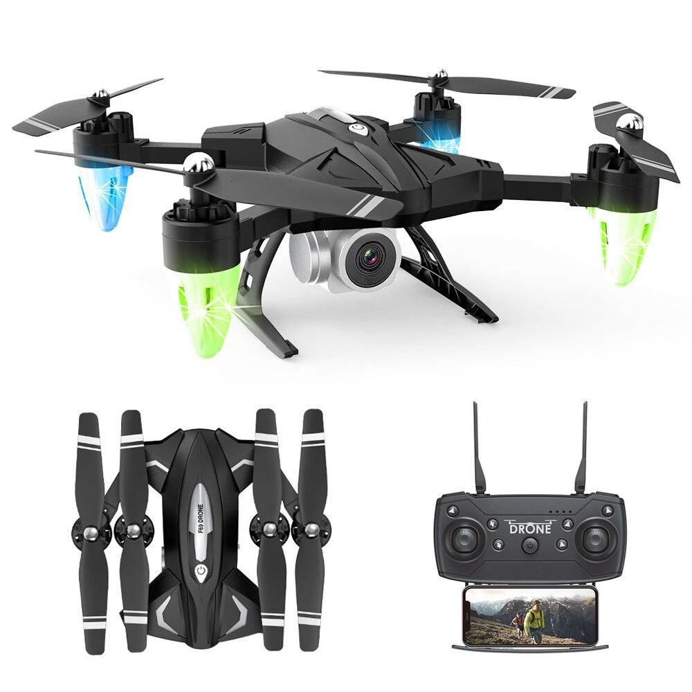 Rc drones com wifi fpv câmera helicóptero profissional selfie dobrável voar 18 minutos altura estável quadcopter vs ky601 h31 x5c e58