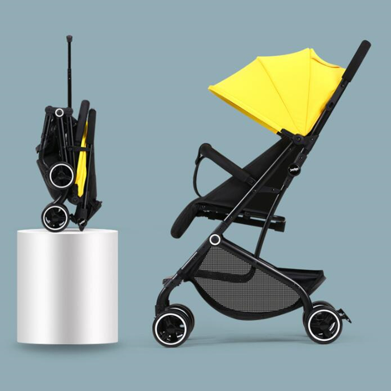 5.5KG High Landscape Baby Stroller Lightweight Baby Strollers Foldable Portable Four-wheel Stroller Baby Carrier Pushchair Cart