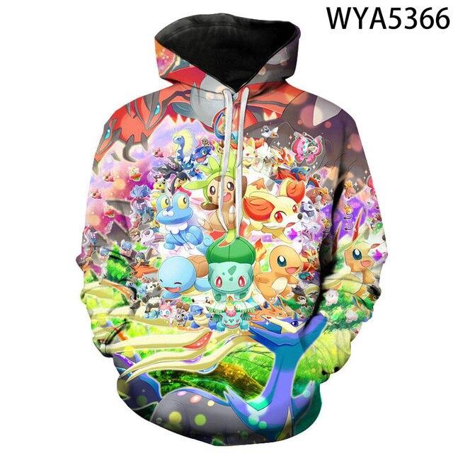 New Games Pokemon Fashion Casual Boy Girl Kids 3D Printed Hoodies Sweatshirts Men Women Children Long Sleeve Streetwear Jacket 3