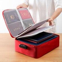 Портативная сумка для хранения документов большая вместительность портфель двухслойная многофункциональная посылка для документов с паролем