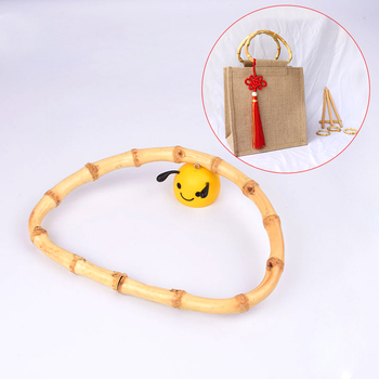 2pcs Bag Handle,  D shape Bamboo Handle Making Bags Craft, Accessories For DIY
