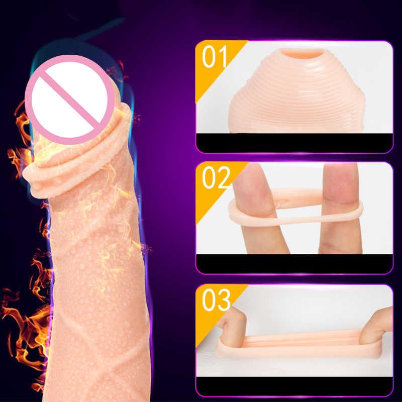2 pièces/ensemble anneau de Correction de prépuce prématuré manchon de prépuce gland anneaux de pénis retard Cockring Anillo Pene Sex Toys pour hommes