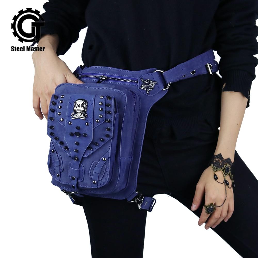 2019 Punk Style Women Waist Bag Casual Durable Street Wear Belt Bag Pu Multifunction Shoulder Bag Zipper Leather Fanny Pack For Outdoor Wear