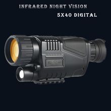лучшая цена 5x40 HD Digital Night Vision can photograph, video, hunt and patrol infrared monocular telescope at night