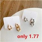 AOMU-1Pair-Fashion-Asymmetry-Metal-Chain-Earrings-Punk-Gold-Silver-Color-Drop-Earrings-Jewelry-For-Women_副本