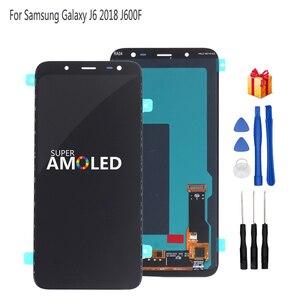 Image 1 - Orijinal AMOLED Samsung Galaxy J6 2018 ekran LCD ekran dokunmatik ekran Digitizer meclisi değiştirme J600F J600 ücretsiz araçlar