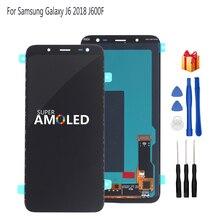Oryginalny AMOLED do Samsung Galaxy J6 2018 ekran wyświetlacz LCD ekran dotykowy wymiana Digitizer zgromadzenie J600F J600 darmowe narzędzia