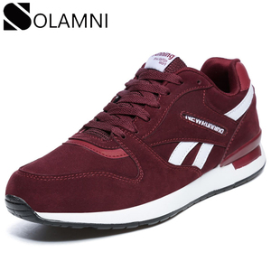 Image 1 - Women Leather Casual Shoes Unisex Breathable Anti Slip Mens Outdoor Couple Fashion Big Size Vulcanized Shoes