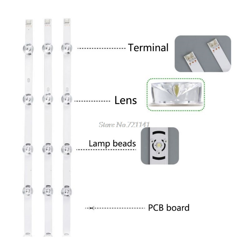 3Pcs/Set LED Backlight Strip 6 Lamp Light Bar For Lg 32