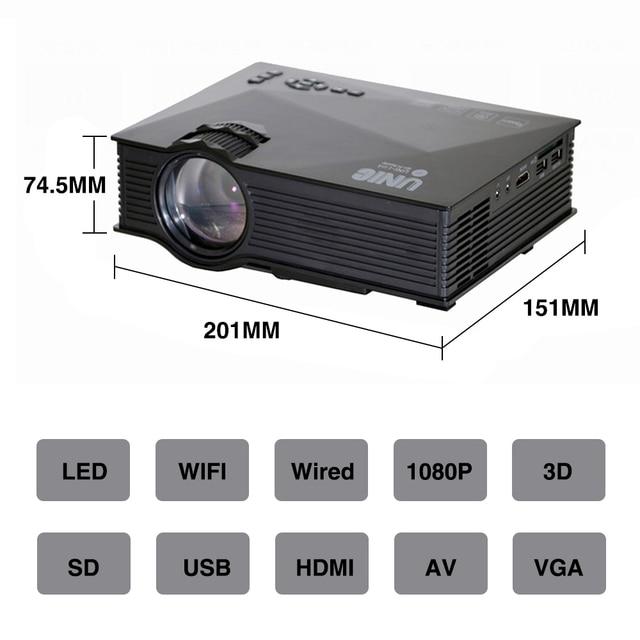 Original UNIC UC68 UC68H Portable LED Projector 1800 Lumens 80 110 ANSI HD 1080p Full HD 6