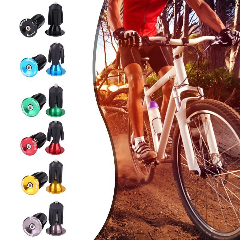 2Pcs Bike Bar End Plugs Aluminum Road Bicycle Grip Anti-slip Firm Handlebar.C Fs