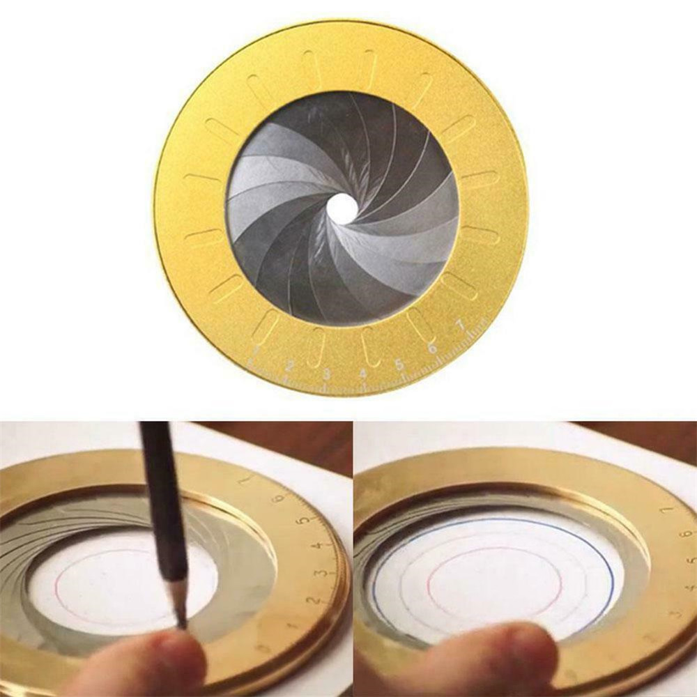 Adjustable Stainless Steel Round Circle Tool Measurement Creative Drawing Ruler Carry Plotter For Industry Draw Round Measuremen