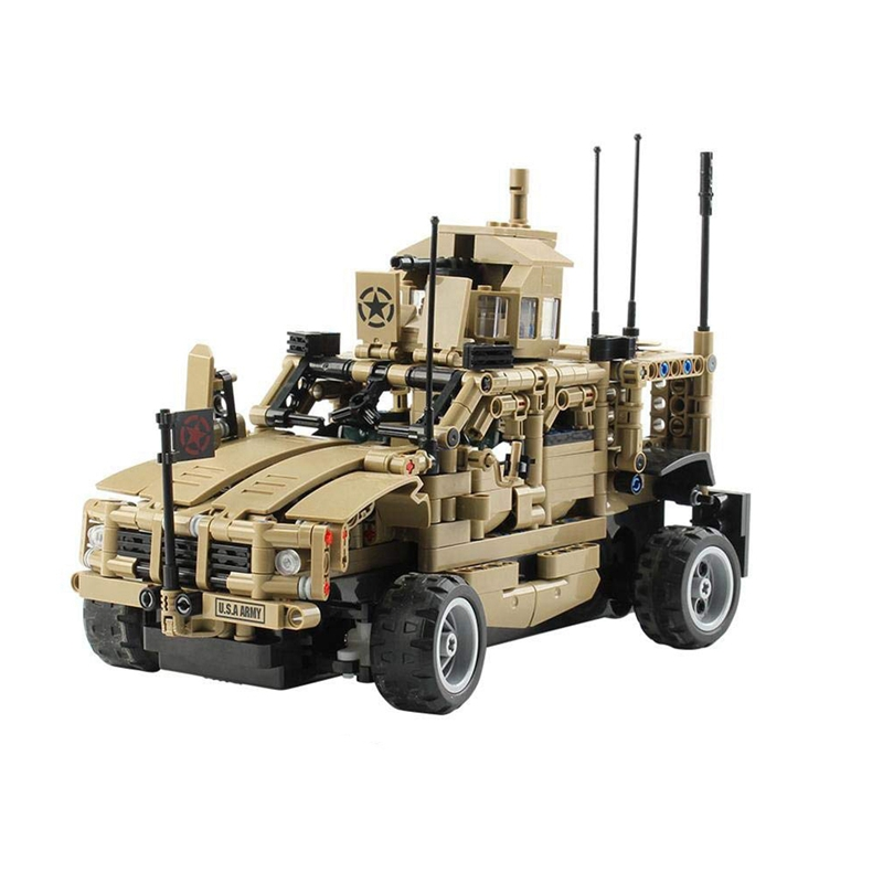 FBIL-1:12 2.4G Armored Assault Vehicle Diy Kit,Independent Controlled Track Racing