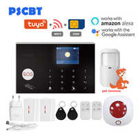 Wireless GSM Alarm Tuya Wifi Sicherheit System Alarm Intercom Remote APP Fernbedienung IOS Android Touch Tastatur 433MHz Detektor