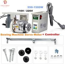 Servo motor da máquina de costura de pendurar, fixado em ramos 110/220v inferior, controlador + controlador para uma variedade de industrial máquinas de costura