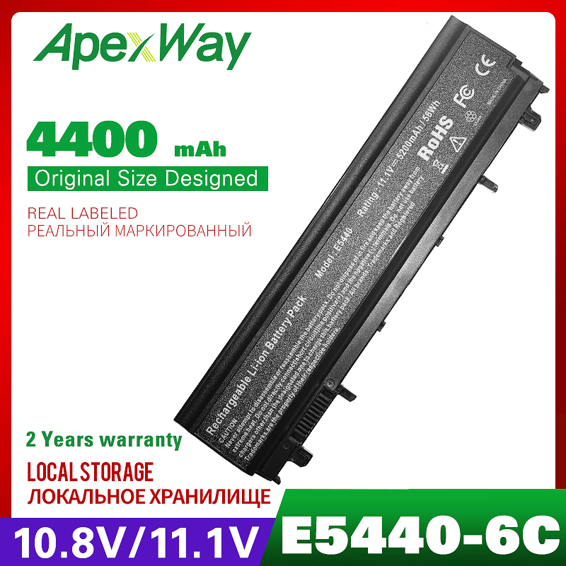 New 4400mAh 6Cell Laptop Battery for DELL E5440 E5540 451 BBID 451 BBIE 451 BBIF 312 1351 3K7J7 970V9 9TJ2J N5YH9 TU211 VV0NF-in Laptop Batteries from Computer & Office on