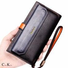Caze Kyts  Men's multifunctional long zipper wallet large capacity card bag clutch bag loose-leaf handbag wallet NEW