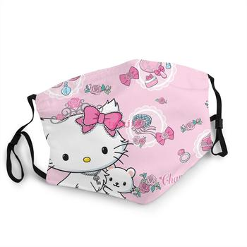Hello Kitty Fabric Mask Washable With Pm2.5 Filter Dust Girl Birthday Masque Hello Kitty Airpdo Case Stickers Bag Birthday Gift недорого