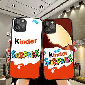 for iPhone 5 6 6S 7 8 Plus X XS Max XR 11 Pro Max One Plus 5T 6T 7T Pro case Candy Chocolate funnly cute Kinder Joy surprise(China)