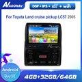 Автомобильный радиоприемник, мультимедийный стереоплеер для Toyota Land Cruiser pickup LC57 2005 с DVD, автомобильный видеопроигрыватель с сенсорным HD экра...