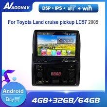 Carro auto rádio multimídia jogador estéreo para toyota land cruise captador lc57 2005 com dvd vídeo do carro hd tela de toque jogador