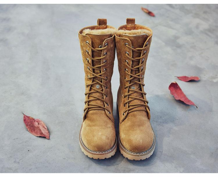 Leather Winter Snow Boots
