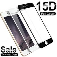 15D de vidrio templado 9H para iPhone SE 2020 6S 6 7 8 Plus Protector de pantalla de iPhone 12 mini 11 Pro XS Max X XR protectora película de vidrio