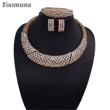Fashion Dubai Jewelry Sets For Women Luxury african Wedding Bridal Necklace jewellery sets for women