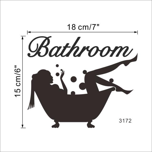 Bathing Bathroom Wall Sticker 8