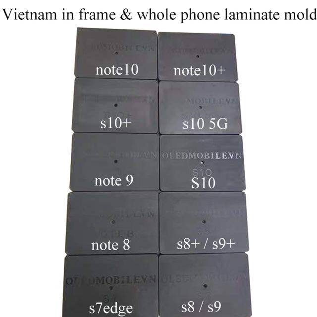 JALAN قالب تصفيح الإطار ، لهاتف Samsung S10Plus S10 5G S9 Plus S8 Plus S7 Note 8/9/10/10 Plus ، زجاج LCD بدون موجة