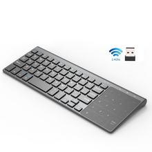 2020 yeni taşınabilir 2.4G kablosuz klavye ile sayı Touchpad ince sayısal tuş takımı için Android Windows masaüstü dizüstü Pc Tv kutusu