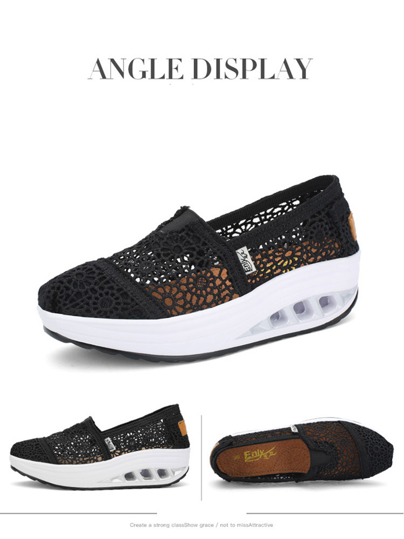 New Spring Summer Hollow Canvas Shoes Women Fashion Lace Slip on Shoes for Women Breathable Platform Shoes 2020 VT750 (14)