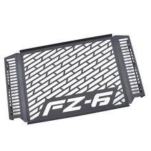 Защита для переднего радиатора мотоцикла, черная защита для радиатора, подходит для моделей Yamaha FZ6 FAZER 2007-2010 2018 2019
