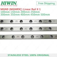 цена на HIWIN MGN9 Linear Guides MGNR9C Rail  9mm linear guideway  150mm 200mm 250mm 300mm 350mm 400mm 500mm Customized length