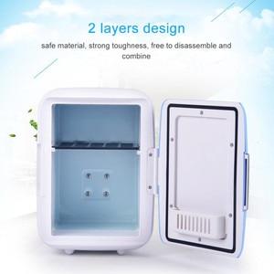 Image 3 - Мини Автомобильный холодильник с морозильной камерой двойного назначения 4L для домашнего использования в автомобиле, холодильники, Ультра тихий низкий уровень шума, охлаждающий холодильник