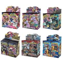 324 pçs/caixa pokemon cartões mais novo gx ex espada & escudo sun & moon inglês cartão de negociação brilhando versões do jogo 36 pacote coleção brinquedos