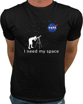 Oficjalne Logo NASA potrzebuję mojej przestrzeni | NASA t-shirty dla dzieci | NASA odzież męska Graphic Fashion t-shirty męskie tanie i dobre opinie Podróż TR (pochodzenie) Cztery pory roku Z okrągłym kołnierzykiem SHORT normal COTTON Na co dzień Znak