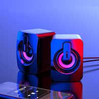 Subwoofer USB de graves profundos para PC, altavoz portátil para música, sonido de DJ, altavoces de ordenador para portátil, teléfono y TV