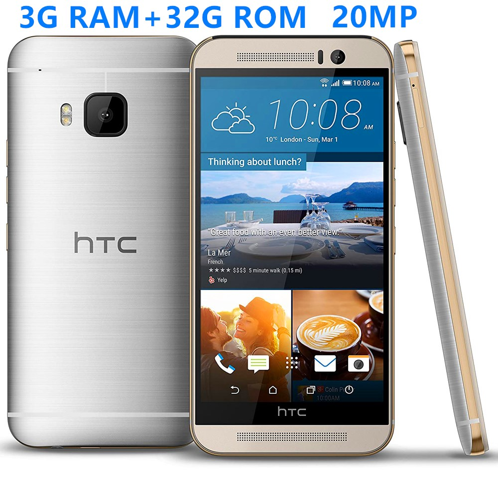 Nearly new used Smartphones HTC M9 Octa Core 4G LTE 3G RAM+32G ROM 5.0INCH 20MP Android Mobile phones cheap celulares Unlocked
