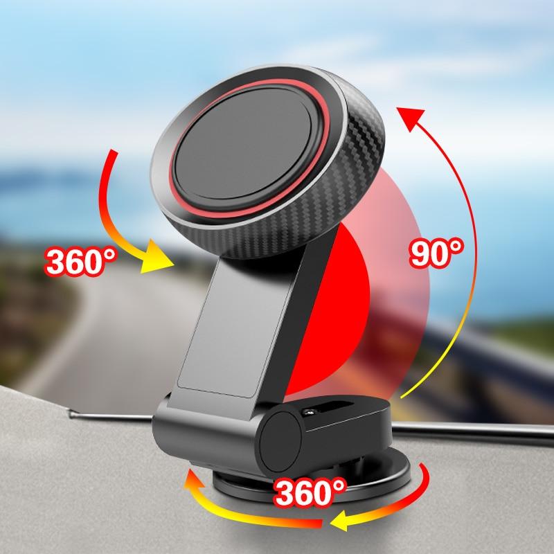 FONKEN Magnetic Holder For Mobile Phone Rotate Smartphone Holder In Car Cellphone Charging Stand Magnet Universal Phone Holder