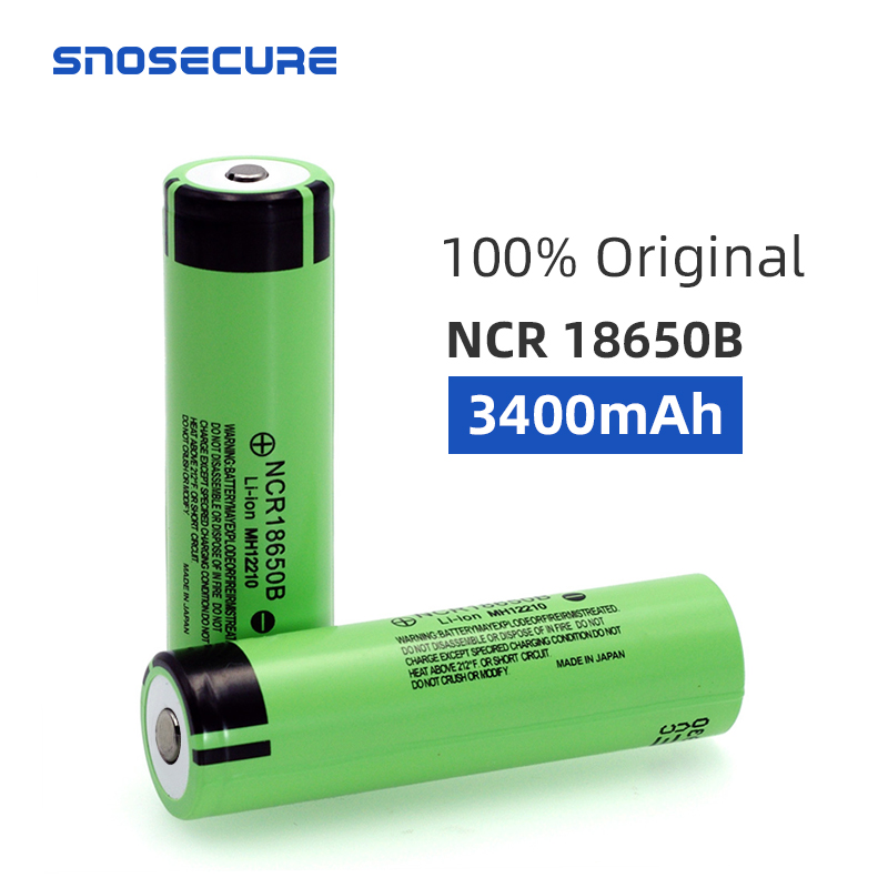 SNOSECURE 18650 3.7 V 3400 Mah Lithium Rechargeable Battery NCR18650B With Pointed(No PCB) For Flashlight Batteries For Battery