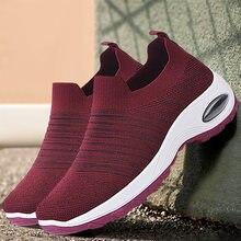21 Zapatillas De Deporte informal Para Mujer Zapatos Planos Con CordoNes De Malla sin mangas y Transpirables 2021Zapatos De Mujer
