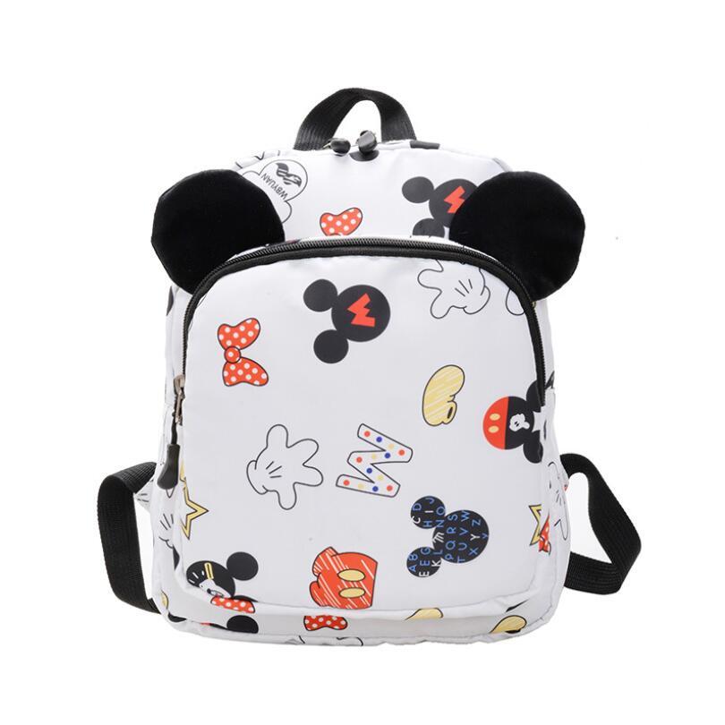Children Bag Cute Cartoon Mickey Minnie Kids Bags Kindergarten Preschool Backpack For Boys Girls Baby School Bags 3-6 Years Old