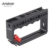 Andoer klatka operatorska kamery Rig uchwyt stabilizator wideo Rig dla klatka operatorska Monitor światło led do kamery mikrofon do lustrzanki cyfrowe