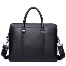 mens briefcase leather office/laptop bag for genuine business document man handbag Messenger Bag