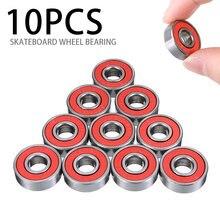 10 шт abec 9 red tn инженерные пластиковые подшипники для скутера